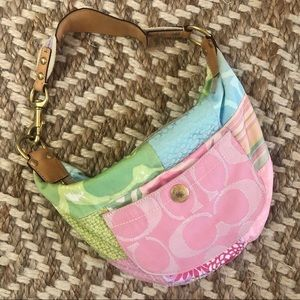 Vintage Coach Small Patchwork Hobo Purse